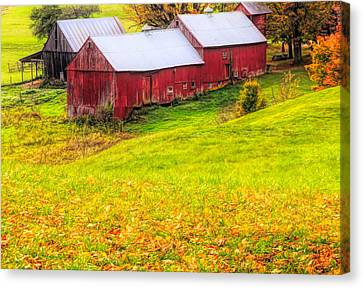 Country Scenes Canvas Print - Autumn On Jenne Farm by Dan Sproul