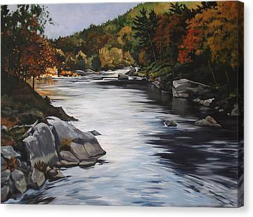 Autumn On The Allegheny Canvas Print
