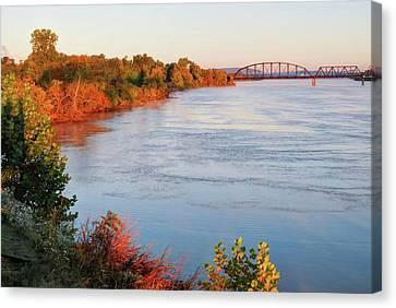Autumn On The Arkansas River - Fort Smith Canvas Print