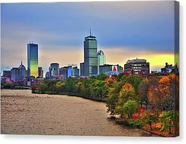 Autumn On The Charles River - Boston Canvas Print by Joann Vitali