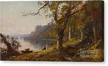 Autumn On The Hudson Canvas Print by Celestial Images