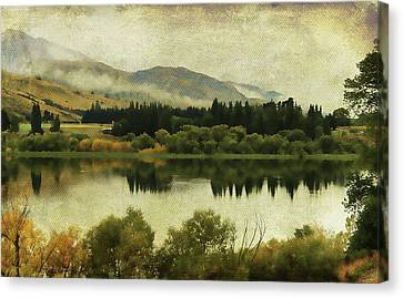 Autumn On The Lake Canvas Print by Margaret Hormann Bfa