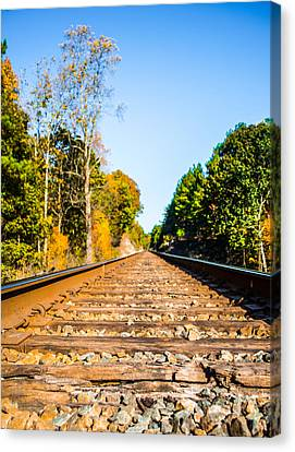 Autumn On The Railroad Canvas Print by Parker Cunningham