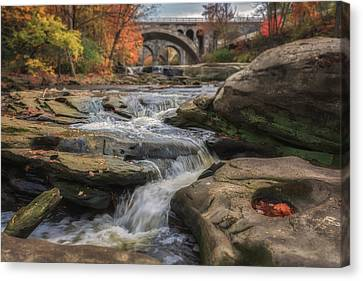 Autumn On The Rocky River Canvas Print by Michael Demagall