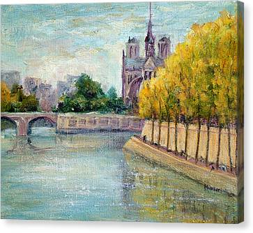 Autumn On The Seine Canvas Print