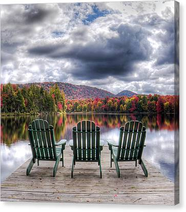 Canvas Print featuring the photograph Autumn On West Lake by David Patterson