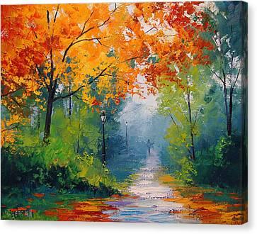 Autumn Park Canvas Print by Graham Gercken
