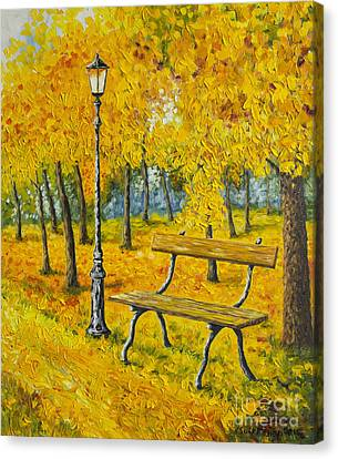 Autumn Park Canvas Print by Veikko Suikkanen