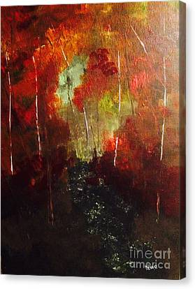 Canvas Print featuring the painting Sunset Trail by Denise Tomasura