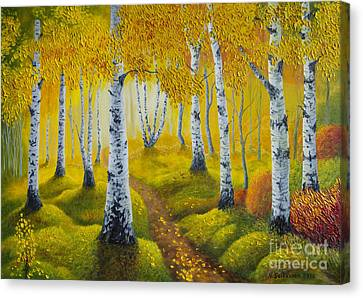 Autumn Path Canvas Print by Veikko Suikkanen
