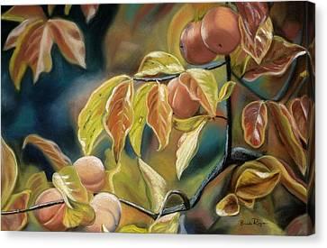 Autumn Peaches Canvas Print by Brenda Williams
