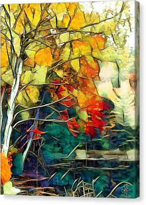Canvas Print featuring the mixed media Autumn by Pennie McCracken