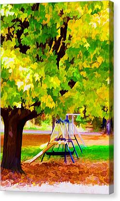 Autumn Playground Canvas Print by Lanjee Chee