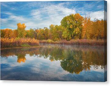 Reflections Of Nature Canvas Print - Autumn Pond by Darren White