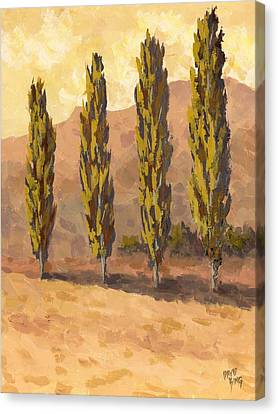 Autumn Poplars Canvas Print by David King