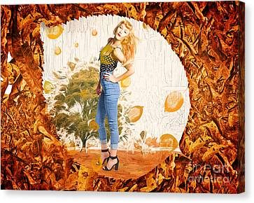Autumn Postcard Pinup Canvas Print by Jorgo Photography - Wall Art Gallery