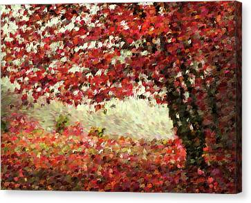Fall Landscape Canvas Print - Autumn Radiance Impressionism Wall Art by Georgiana Romanovna