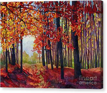 Canvas Print featuring the painting Autumn Rapture by Hailey E Herrera