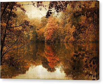 Autumn Reflected Canvas Print by Jessica Jenney