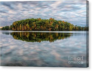 Autumn Reflection Canvas Print by Patrick Shupert