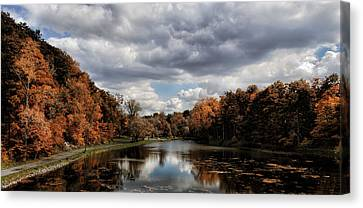 Autumn Reflection  Canvas Print by Peter Chilelli