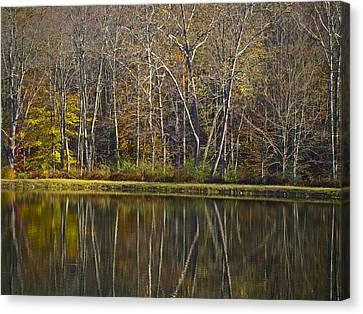 Autumn Reflections Canvas Print by Andrew Kazmierski
