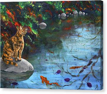 Autumn Reflections Canvas Print by Laura Iverson