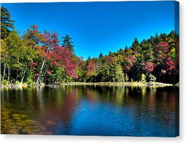 Autumn Reflections On Seventh Lake Canvas Print