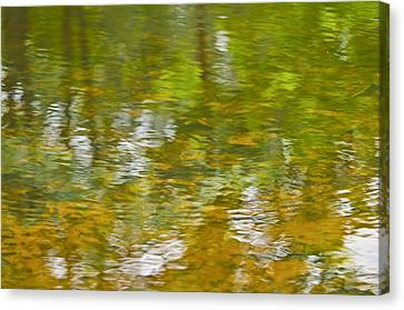 Canvas Print featuring the photograph Autumn Reflections by Wanda Krack