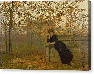 Autumn Regrets Canvas Print