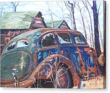 Autumn Retreat - Old Friend Vi Canvas Print by Alicia Drakiotes