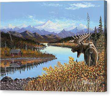 Canvas Print featuring the painting Autumn Revere by Kurt Jacobson