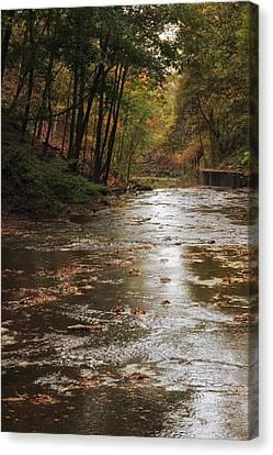 Autumn River Glow Canvas Print by Jessica Jenney