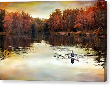Autumn River Row Canvas Print by Jessica Jenney