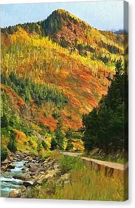 Autumn Road In Colorado Canvas Print
