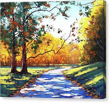 Autumn Road Mt Wilson Canvas Print by Graham Gercken