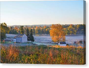 Autumn Scene - Valley Forge Pa Canvas Print by Bill Cannon