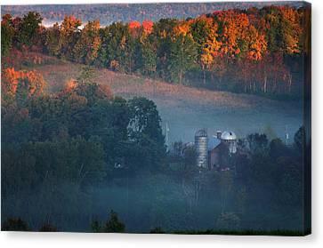 Autumn Scenic - West Rupert Vermont Canvas Print by Thomas Schoeller