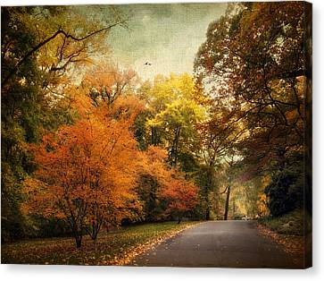 Autumn Settles In Canvas Print by Jessica Jenney