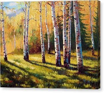 Autumn Shade Canvas Print by David G Paul