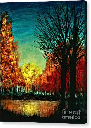 Autumn Silhouette  Canvas Print