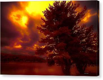 Autumn Skies L.junaluska Canvas Print by Dennis Baswell