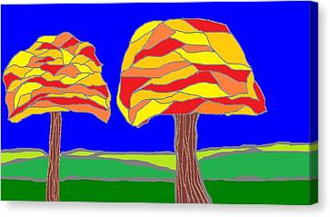 Autumn Stained Glass 1 Canvas Print