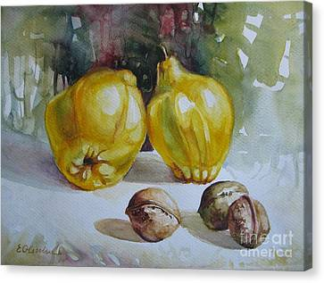 Canvas Print featuring the painting Autumn Still Life 2 by Elena Oleniuc