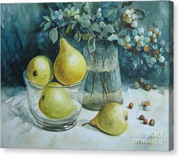 Canvas Print featuring the painting Autumn Still Life 3 by Elena Oleniuc