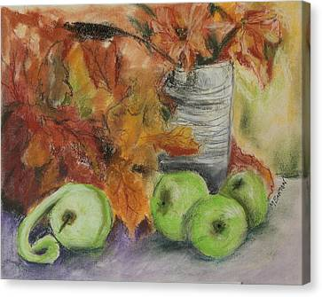 Canvas Print featuring the painting Autumn Still Life by Marilyn Barton
