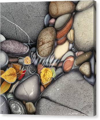 Autumn Stones Canvas Print by JQ Licensing