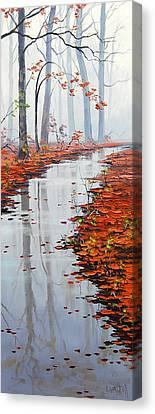 Autumn Stream Canvas Print by Graham Gercken