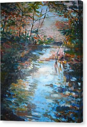 Autumn Stream Canvas Print by Joyce Kanyuk
