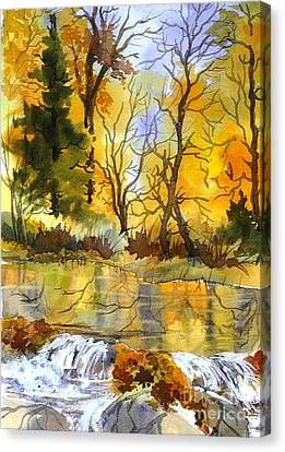 Autumn Stream Canvas Print by Pat Crowther